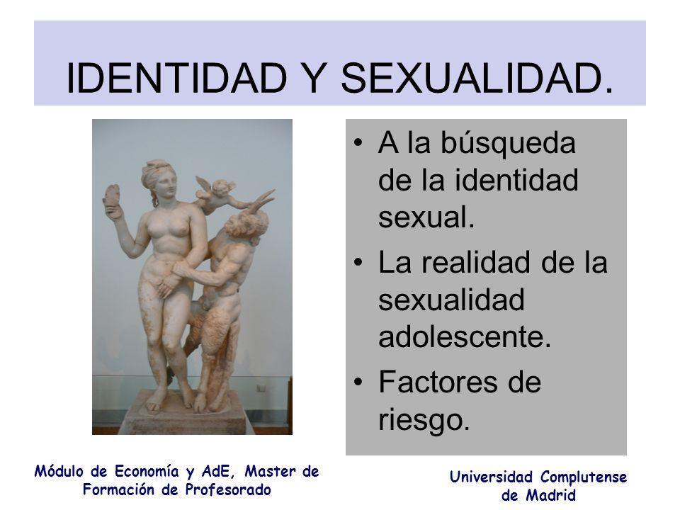 IDENTIDAD Y SEXUALIDAD.