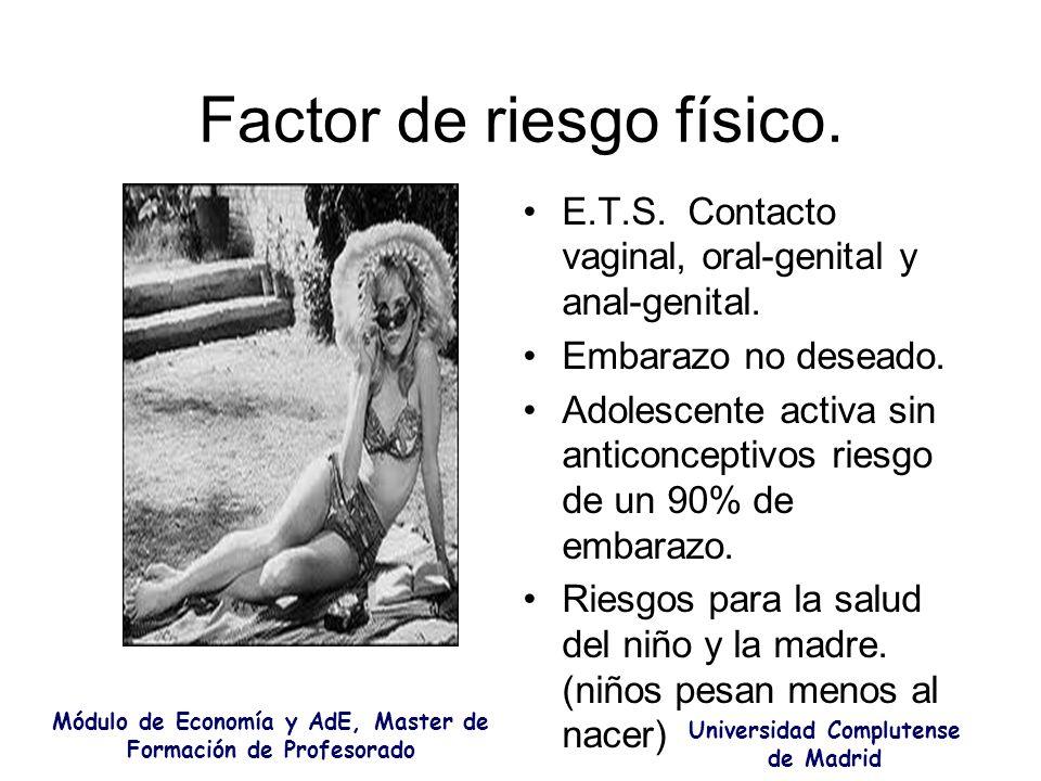 Factor de riesgo físico.
