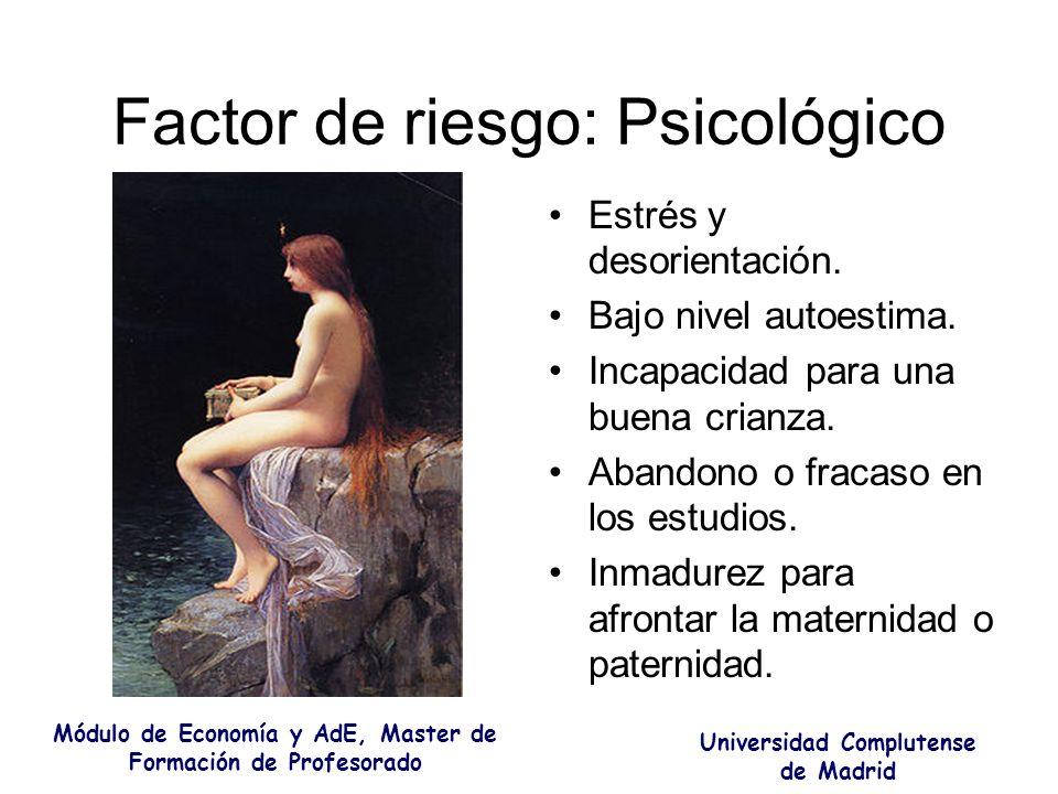 Factor de riesgo: Psicológico