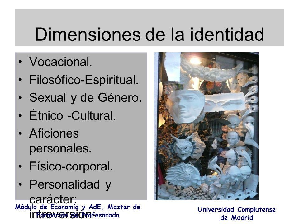 Dimensiones de la identidad