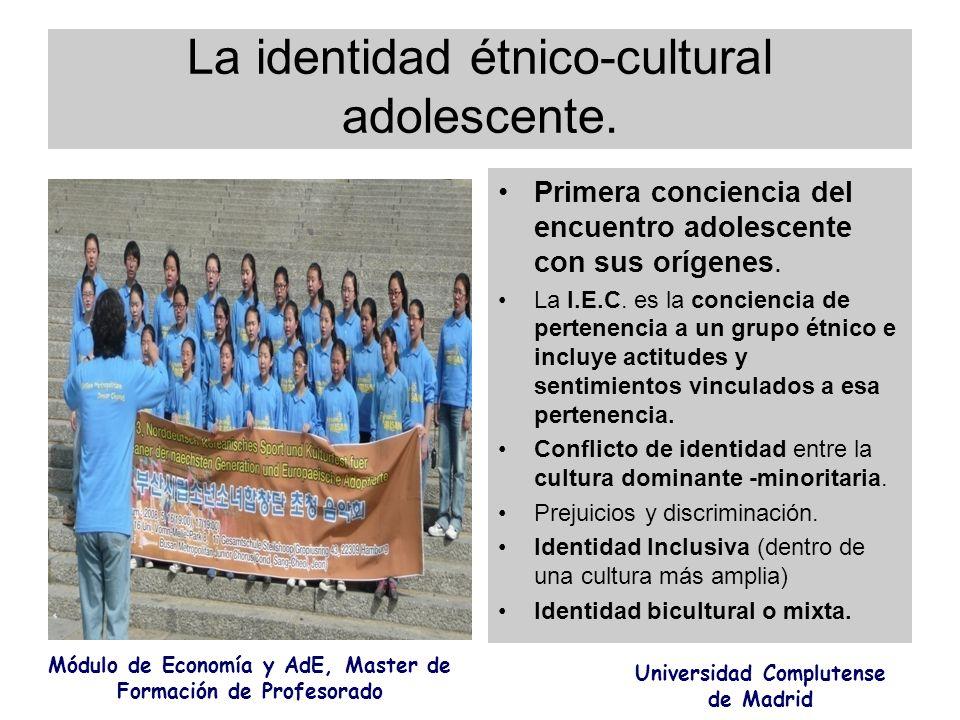 La identidad étnico-cultural adolescente.