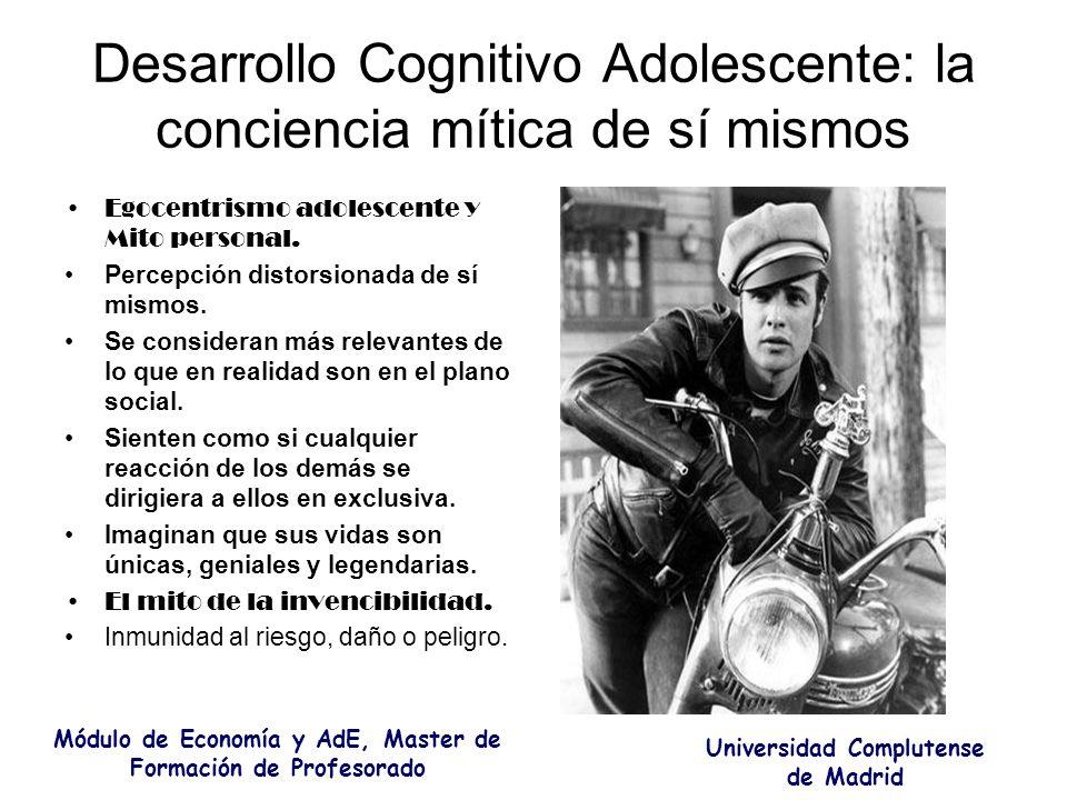 Desarrollo Cognitivo Adolescente: la conciencia mítica de sí mismos