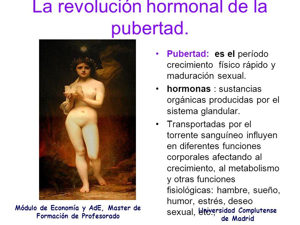 La revolución hormonal de la pubertad.