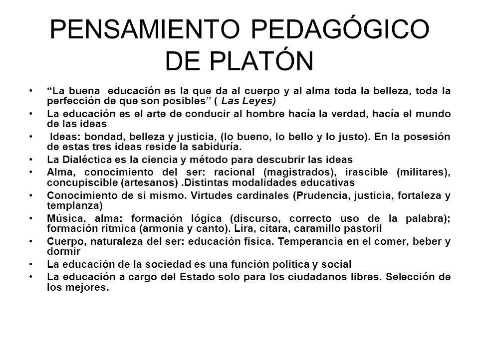 PENSAMIENTO PEDAGÓGICO DE PLATÓN