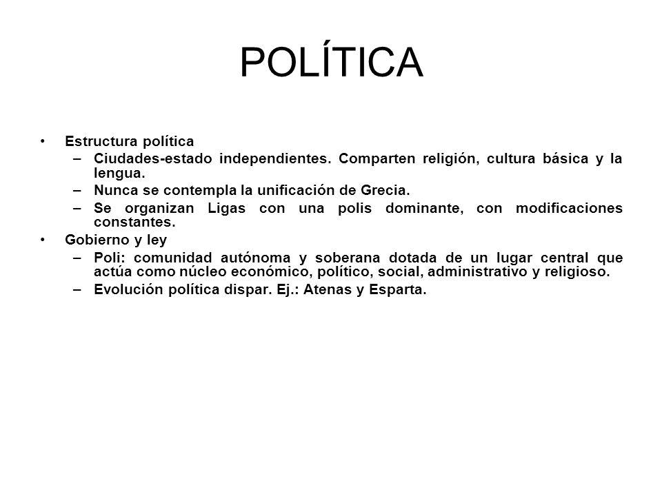 POLÍTICA Estructura política