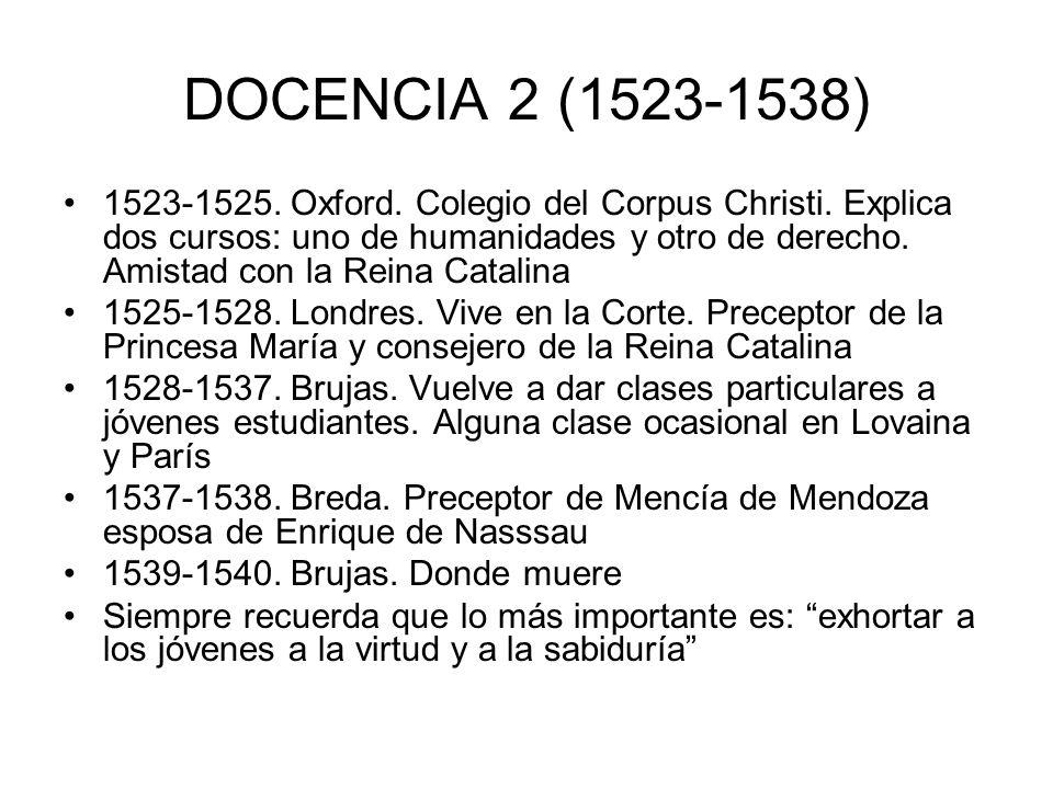 DOCENCIA 2 (1523-1538)