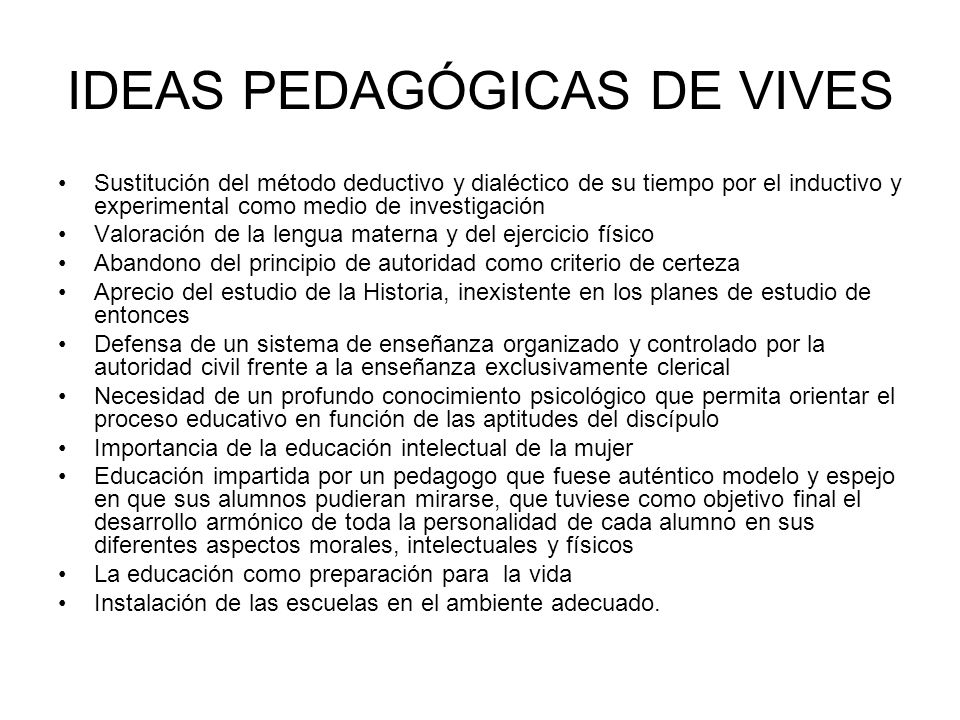 IDEAS PEDAGÓGICAS DE VIVES