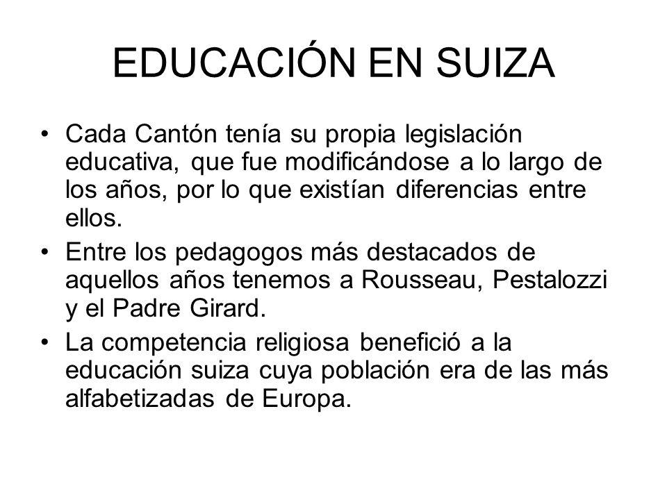 EDUCACIÓN EN SUIZA