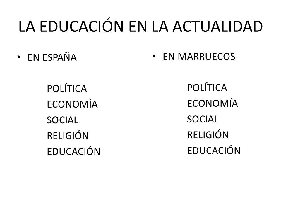 LA EDUCACIÓN EN LA ACTUALIDAD
