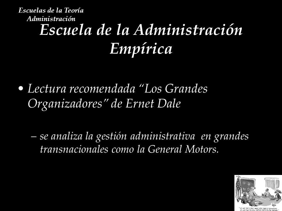 Escuela de la Administración Empírica