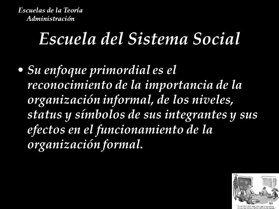 Escuela del Sistema Social
