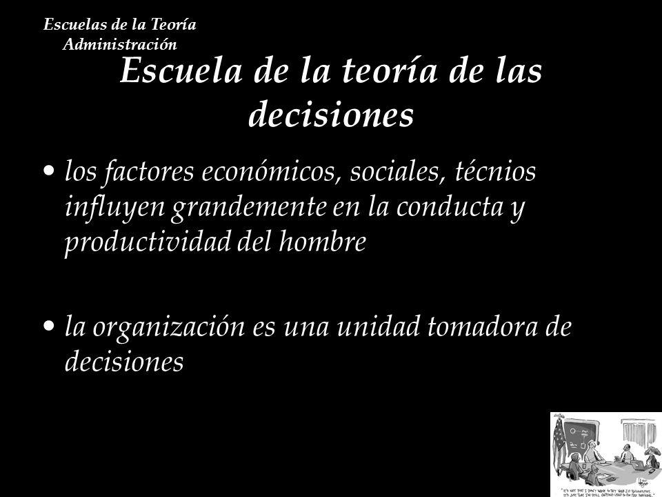 Escuela de la teoría de las decisiones