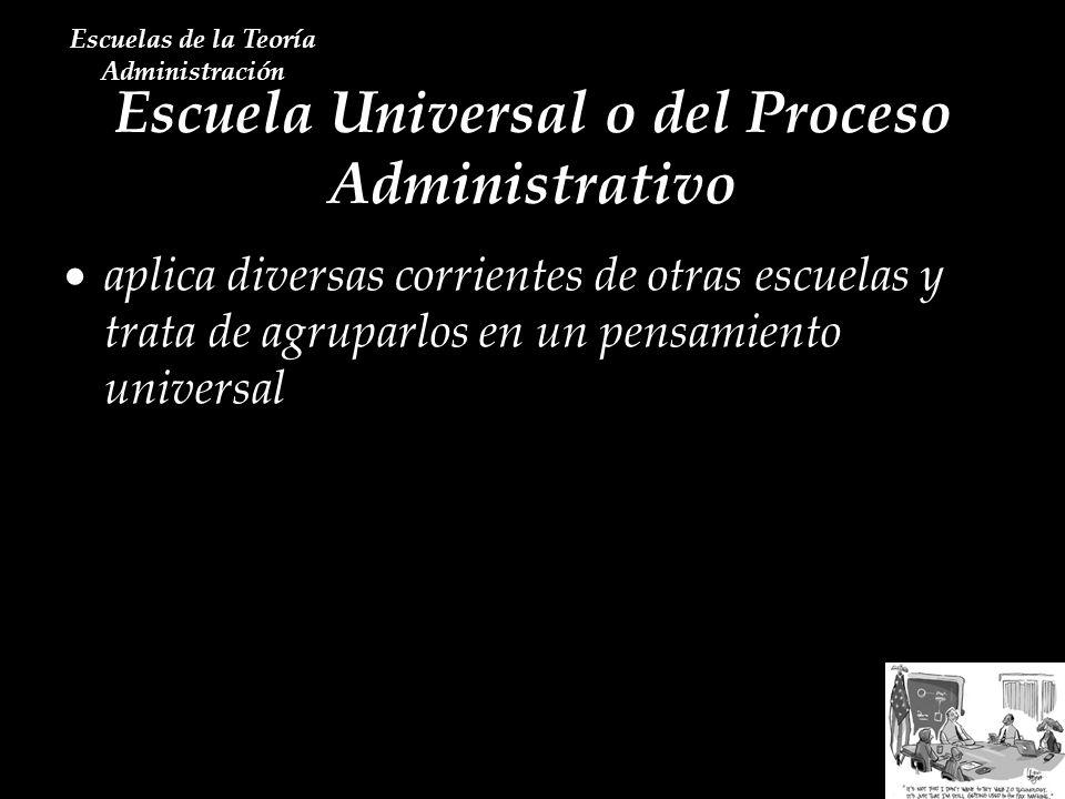 Escuela Universal o del Proceso Administrativo
