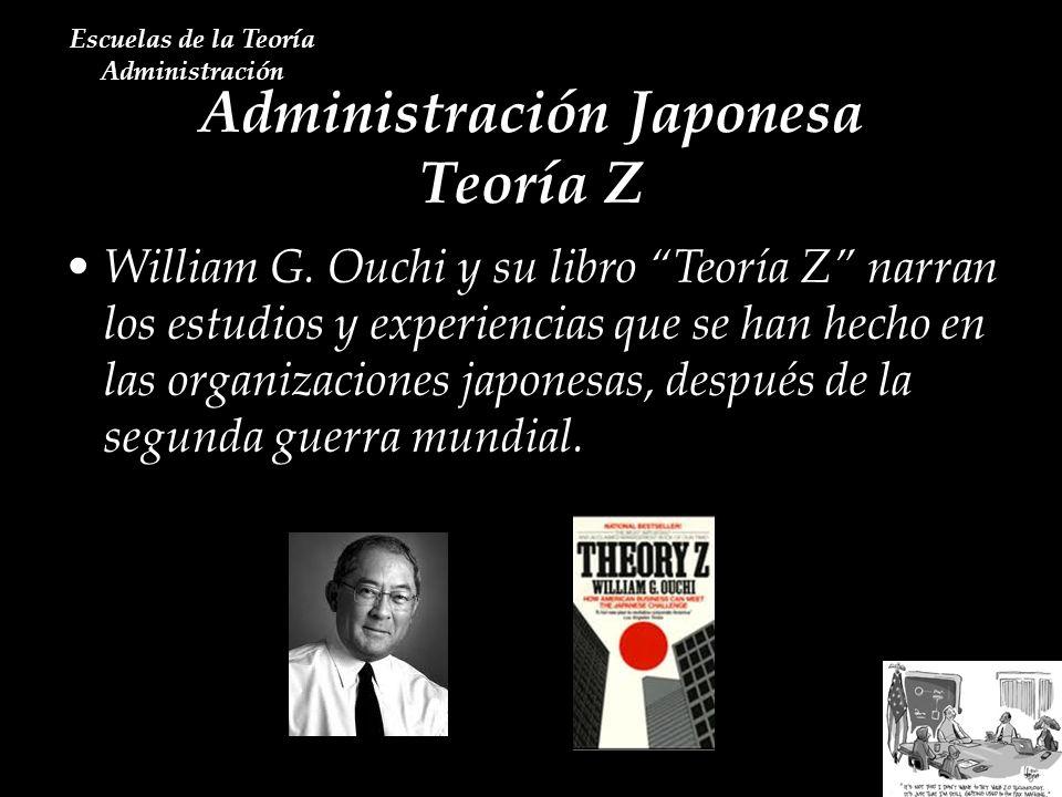 Administración Japonesa Teoría Z