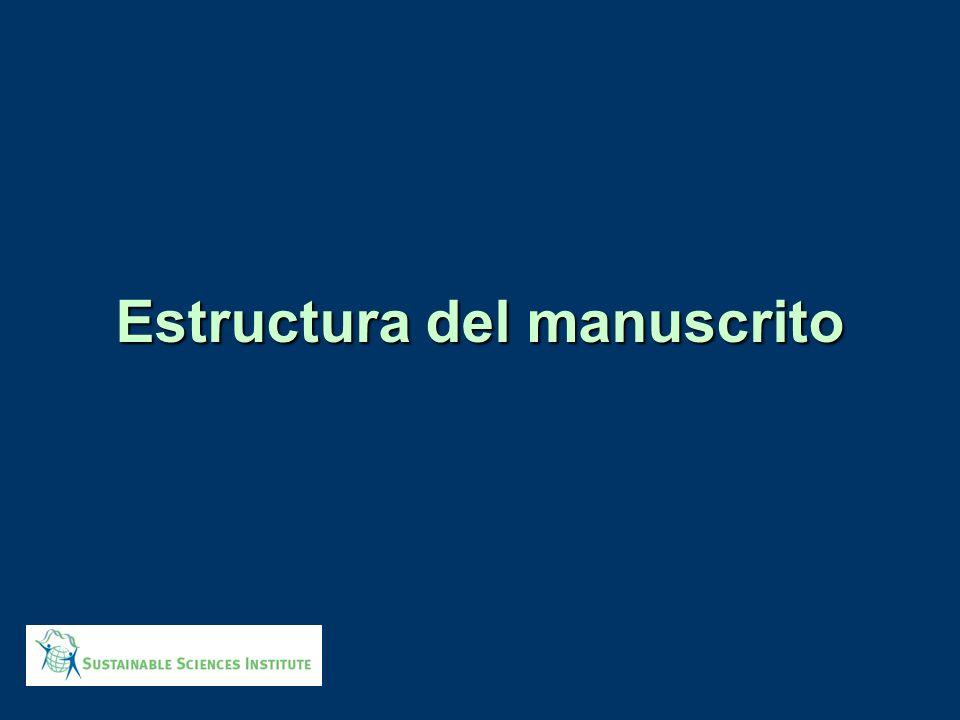 Estructura del manuscrito