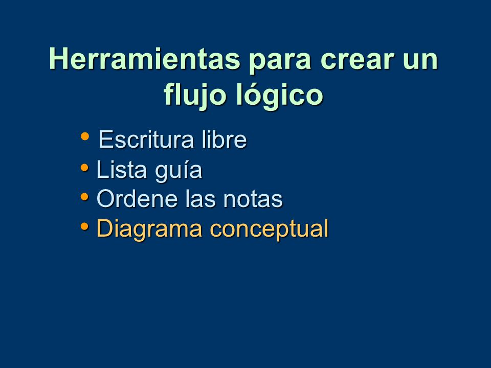 Herramientas para crear un flujo lógico
