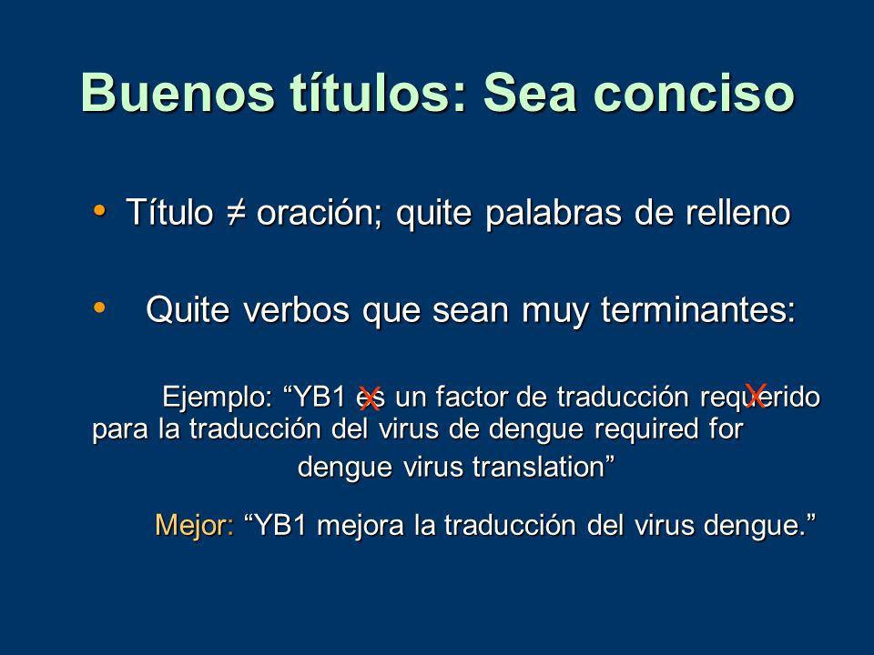 Buenos títulos: Sea conciso