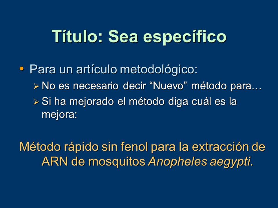Título: Sea específico