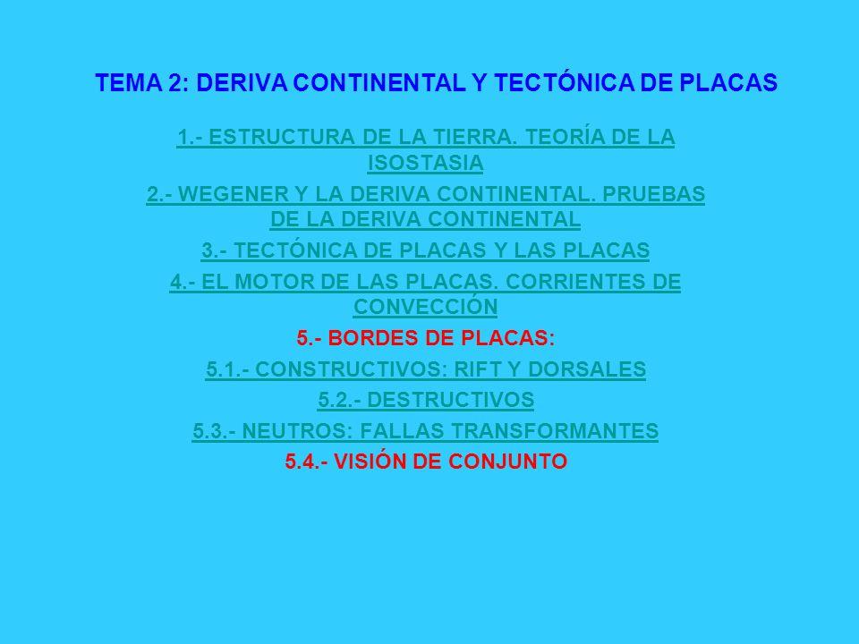 TEMA 2: DERIVA CONTINENTAL Y TECTÓNICA DE PLACAS