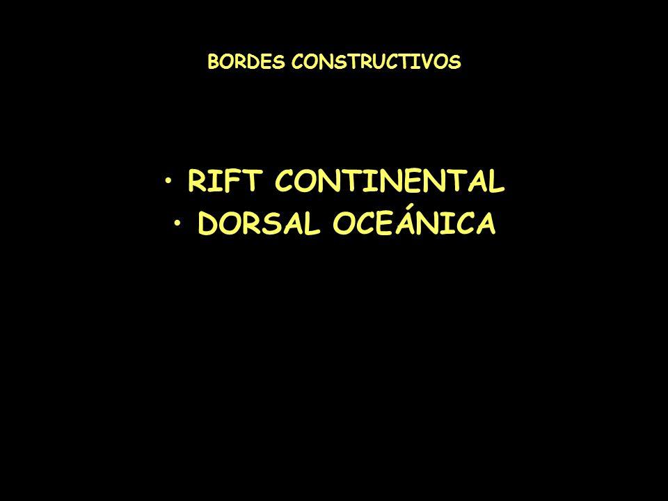 RIFT CONTINENTAL DORSAL OCEÁNICA