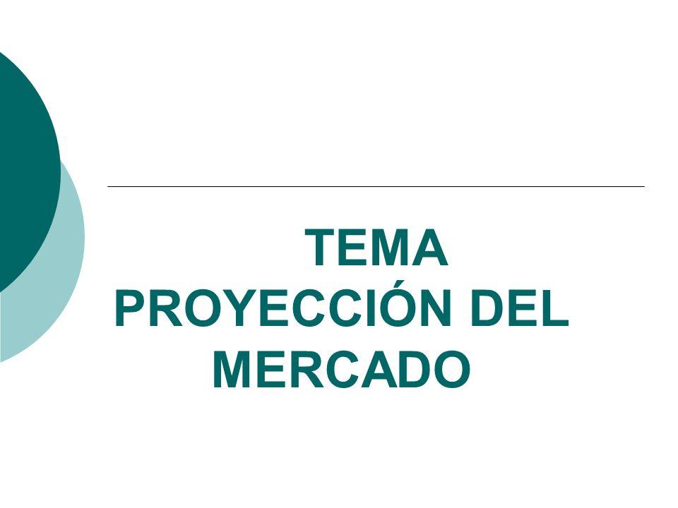 TEMA PROYECCIÓN DEL MERCADO