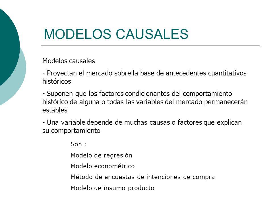 MODELOS CAUSALES Modelos causales