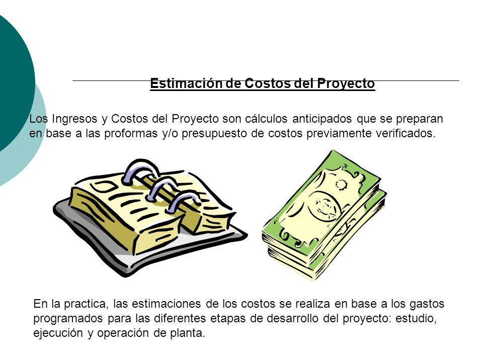 Estimación de Costos del Proyecto