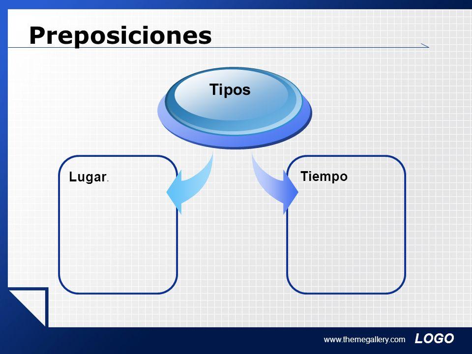 Preposiciones Tipos Lugar. Tiempo www.themegallery.com