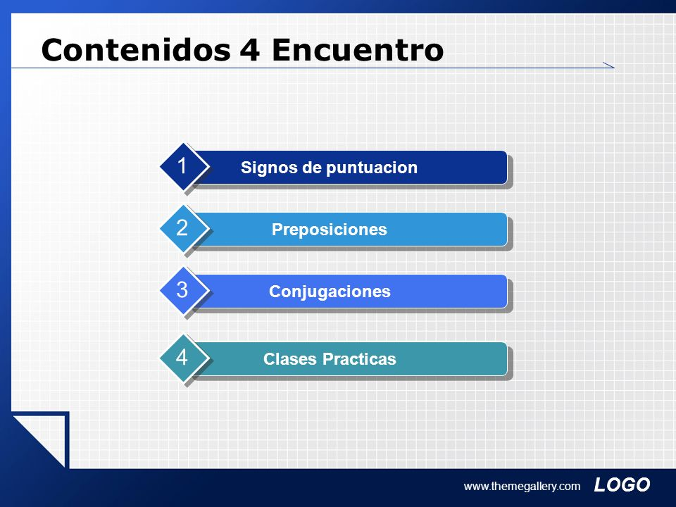 Contenidos 4 Encuentro 1 2 3 4 Signos de puntuacion Preposiciones