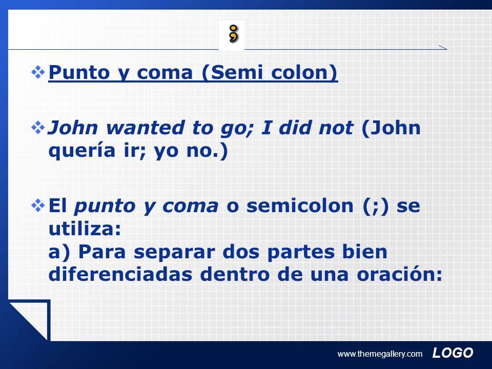 Punto y coma (Semi colon)
