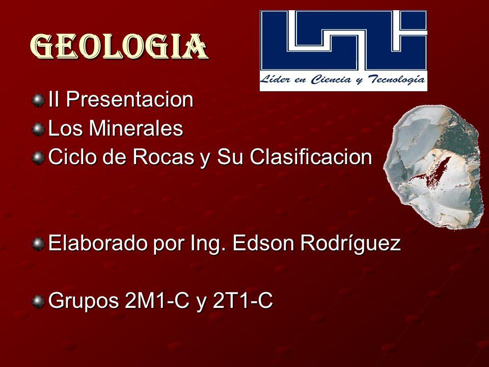 Geologia II Presentacion Los Minerales