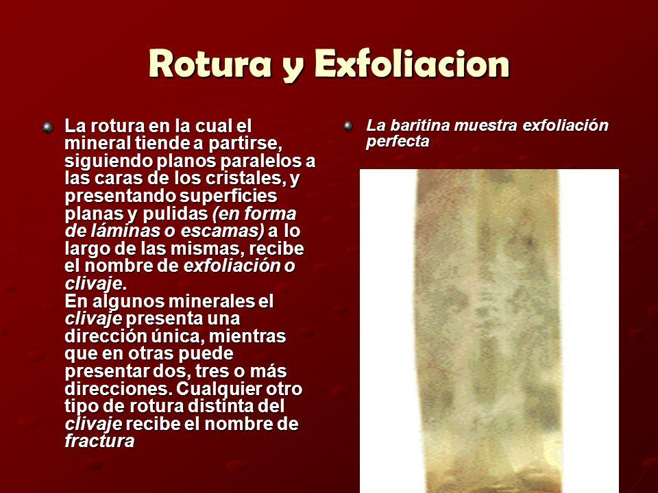 Rotura y Exfoliacion