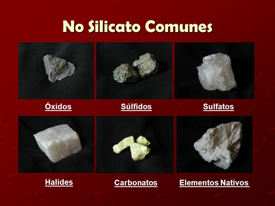 No Silicato Comunes Óxidos Súlfidos Sulfatos Halides Carbonatos