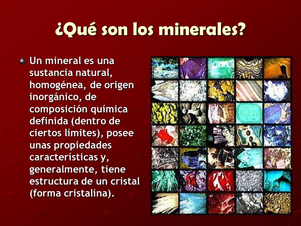 ¿Qué son los minerales