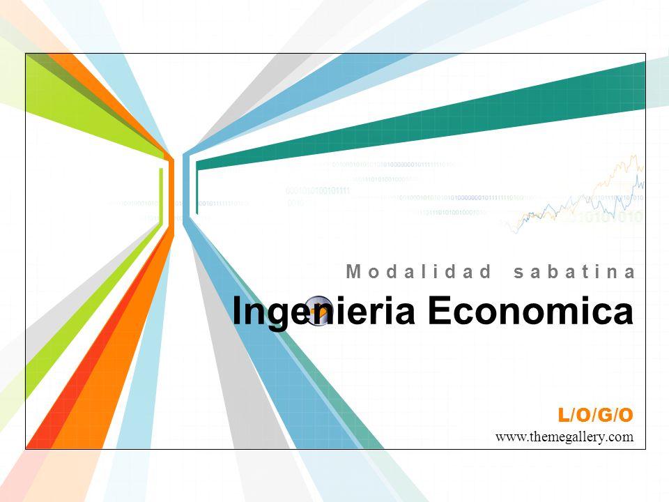 Modalidad sabatina Ingenieria Economica