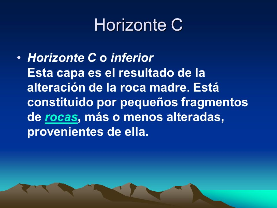 Horizonte C