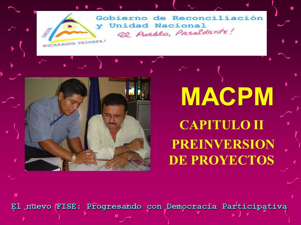 CAPITULO II PREINVERSION DE PROYECTOS