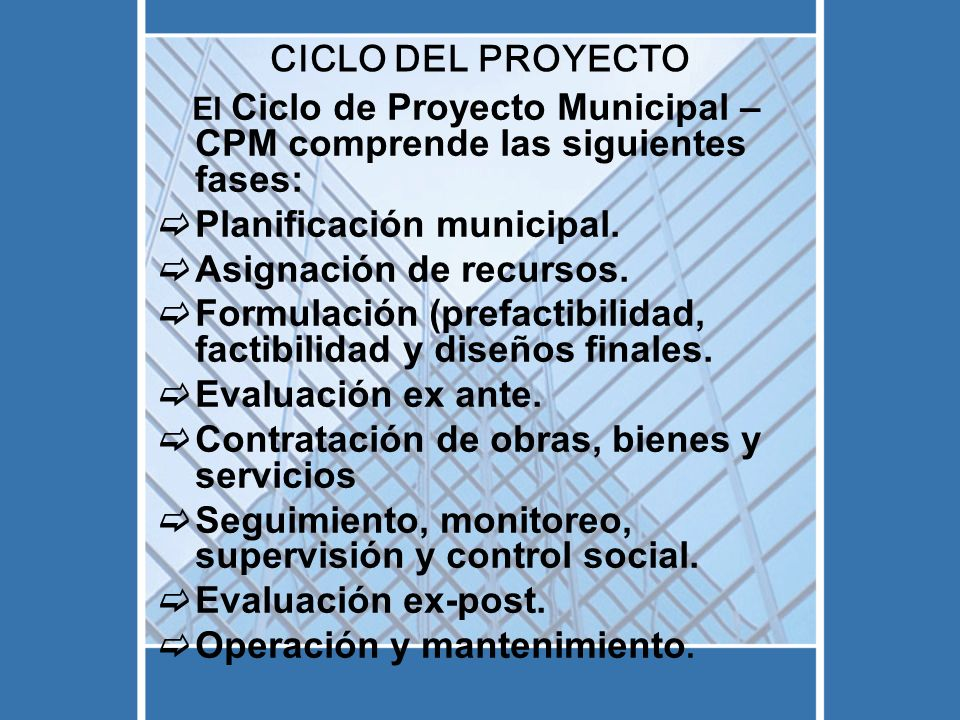 Planificación municipal. Asignación de recursos.