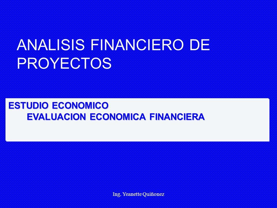 ANALISIS FINANCIERO DE PROYECTOS