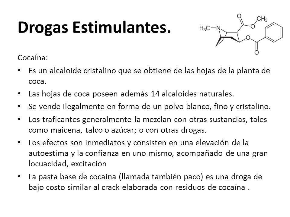 Drogas Estimulantes. Cocaína: