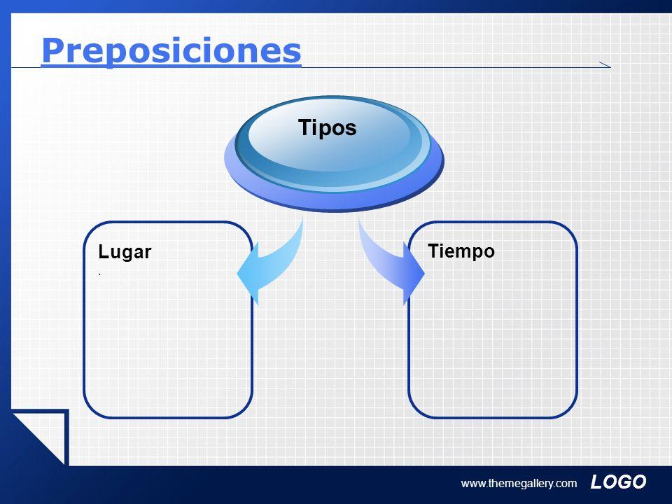 Preposiciones Tipos Lugar . Tiempo www.themegallery.com