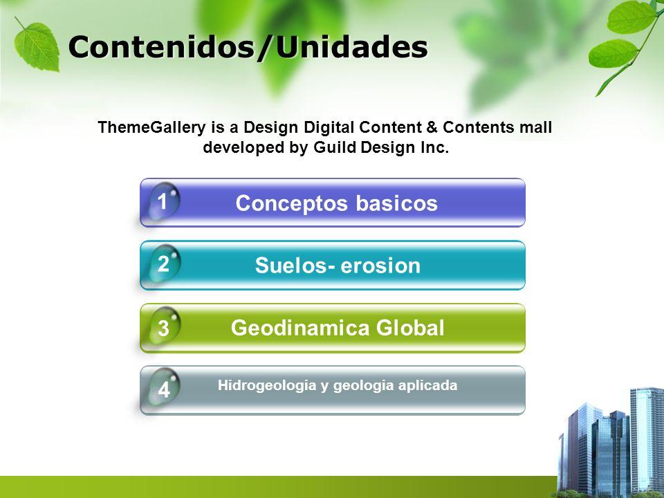 Contenidos/Unidades 1 Conceptos basicos 2 Suelos- erosion 3