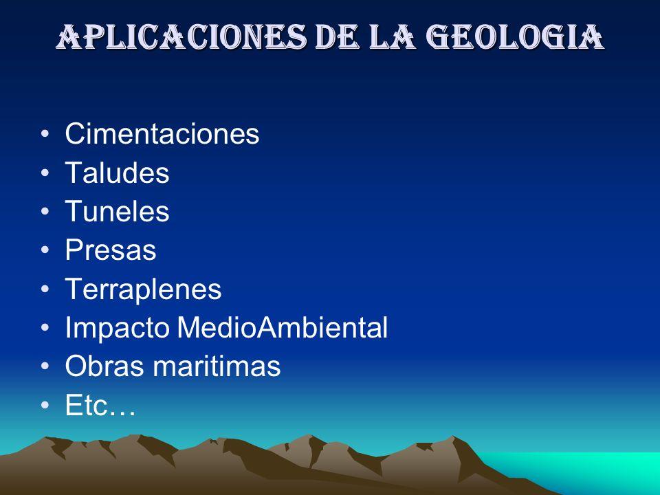 Aplicaciones de la Geologia