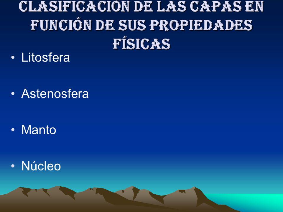 Clasificación de las capas en función de sus propiedades físicas