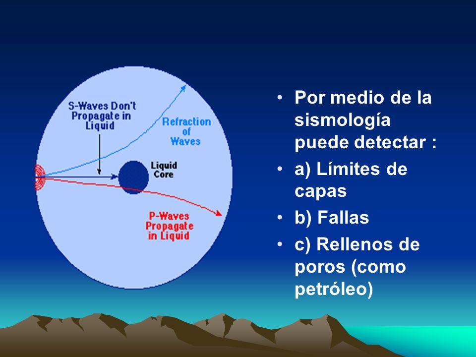 Por medio de la sismología puede detectar :