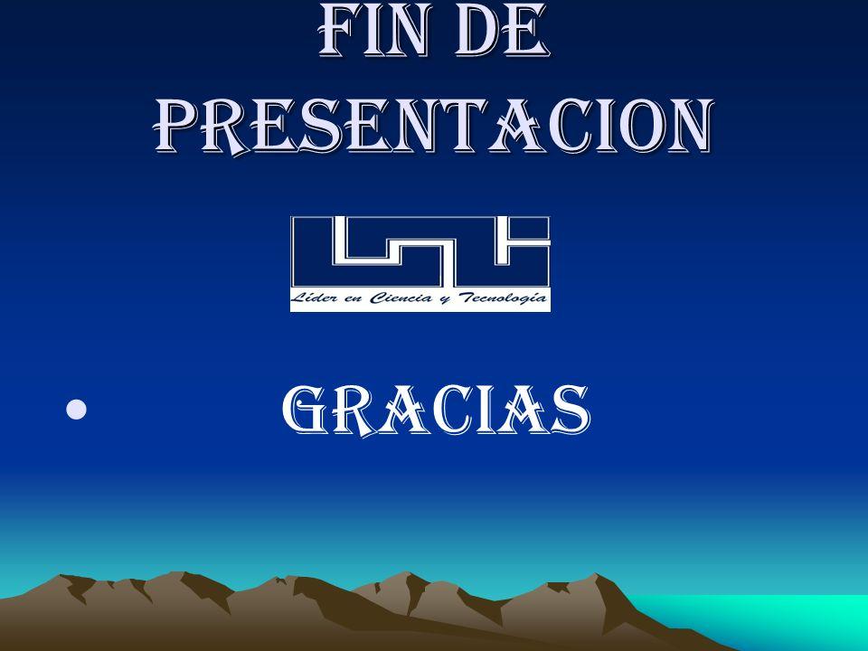 Fin De Presentacion Gracias