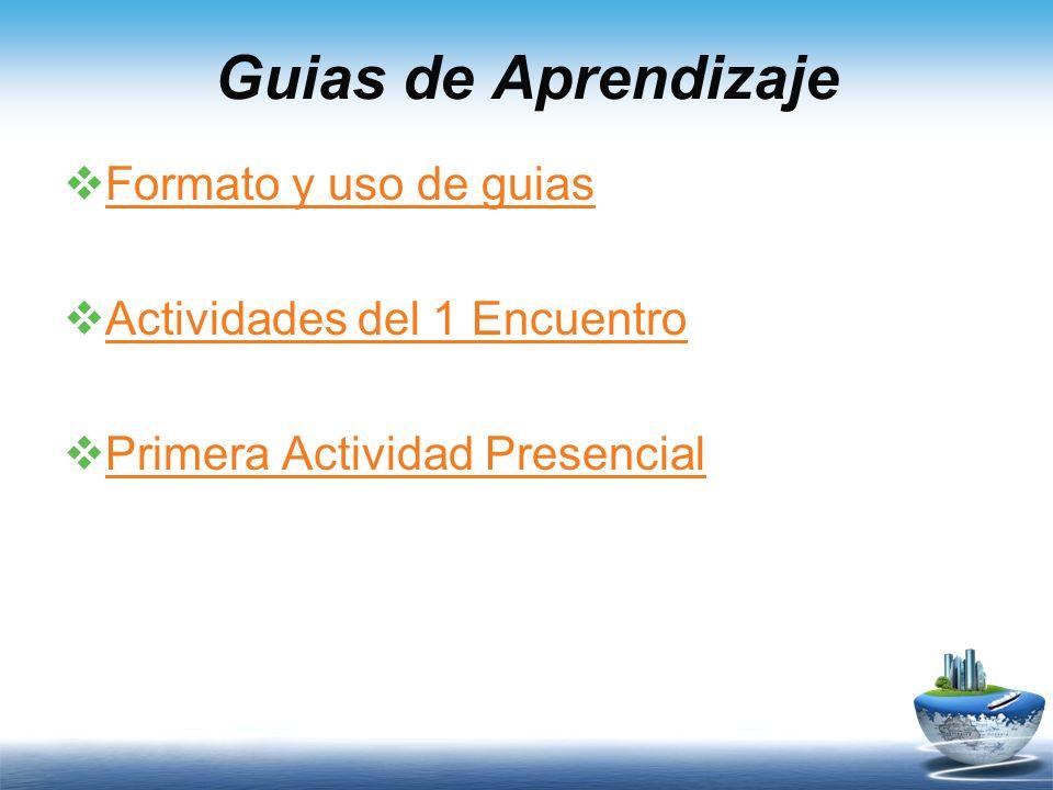 Guias de Aprendizaje Formato y uso de guias