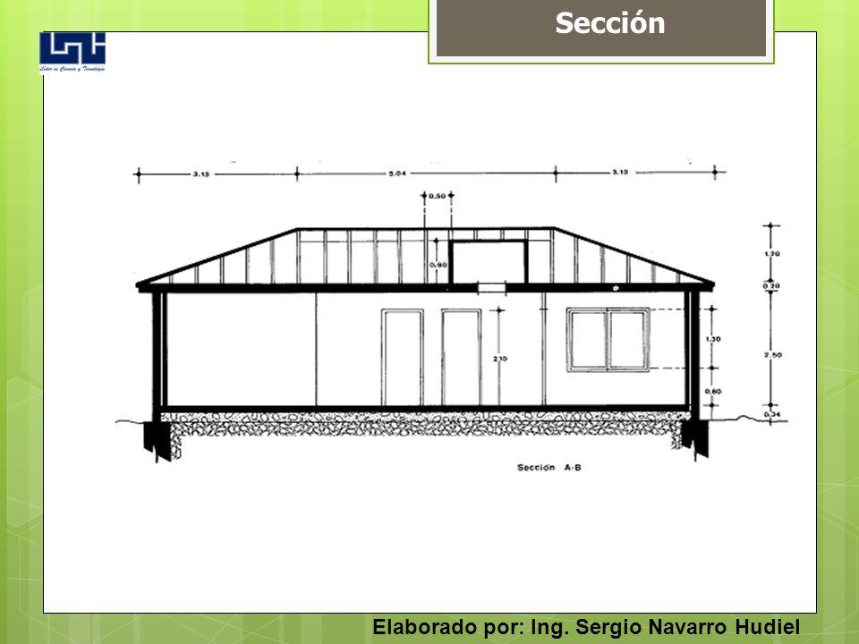 Sección Elaborado por: Ing. Sergio Navarro Hudiel
