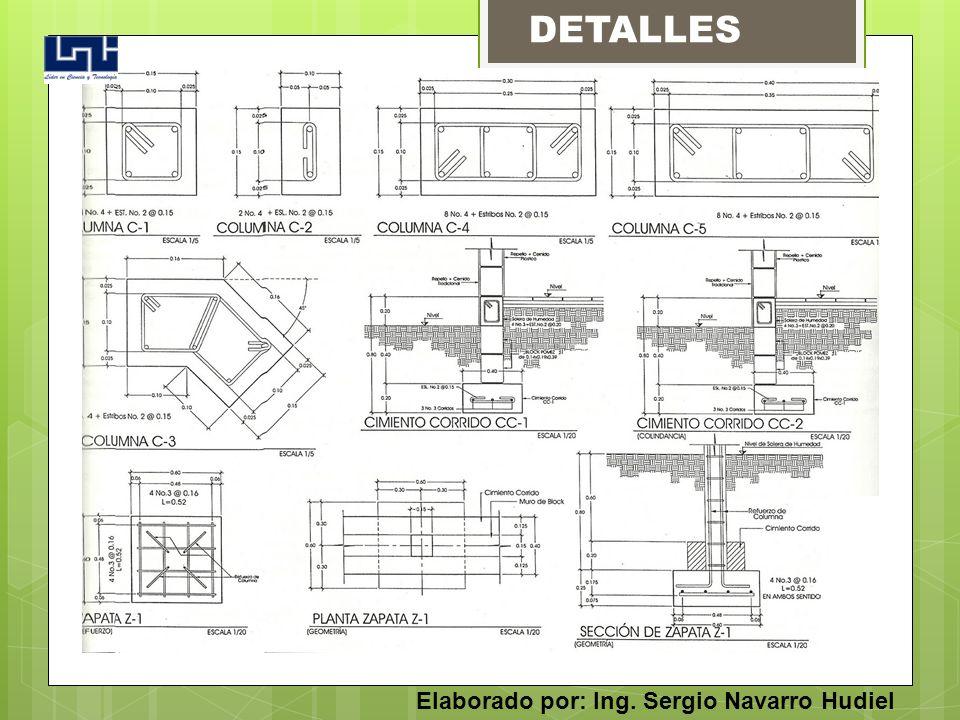DETALLES Elaborado por: Ing. Sergio Navarro Hudiel