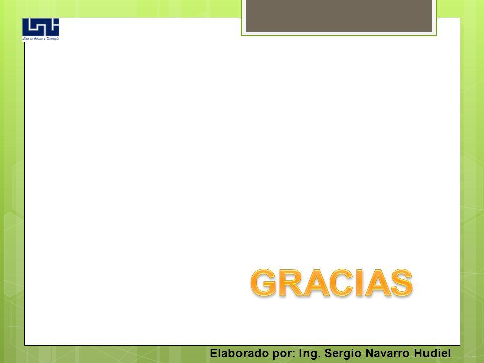 GRACIAS Elaborado por: Ing. Sergio Navarro Hudiel